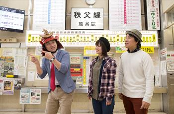 熊谷駅での写真