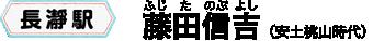 長瀞駅 藤田信吉(安土桃山時代)