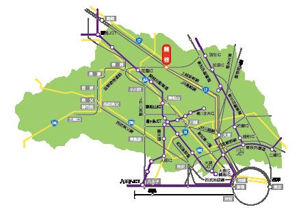 埼玉県交通網マップ