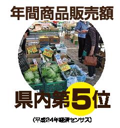 年間商品販売額県内第5位