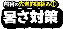 熊谷の先進的取組み1、暑さ対策