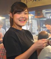 Showa Genki Horumon (Beef and pork offal) Takaraya Sohonten staff